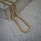 Gold Cuban Link Chain With Diamonds Fully Iced Out