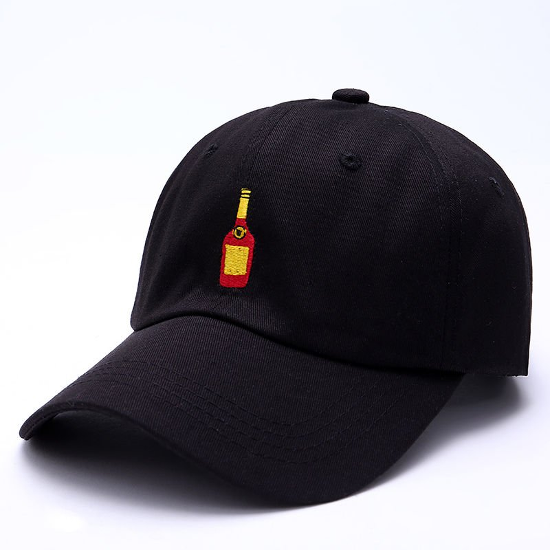Mens Black Henny Bottle Dad Hat