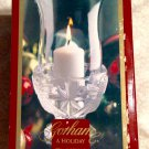"Gorham Angels of Peace 7.5"" Hurricane Crystal Candle Holder - Made in Germany"