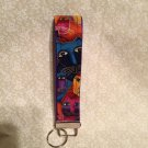 Wristlets Key Fob Fabolus Felines fabric by Laurel Butch. Handmade