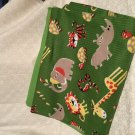 Safari Animals baby receiving blanket lap blanket beach blanket oversized doubl