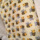 Bumble bees n Daisy receiving blanket lap blanket beach blanket oversized double