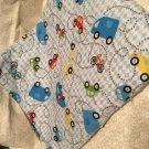 Cars n Trucks baby  receiving blanket lap blanket beach blanket oversized double