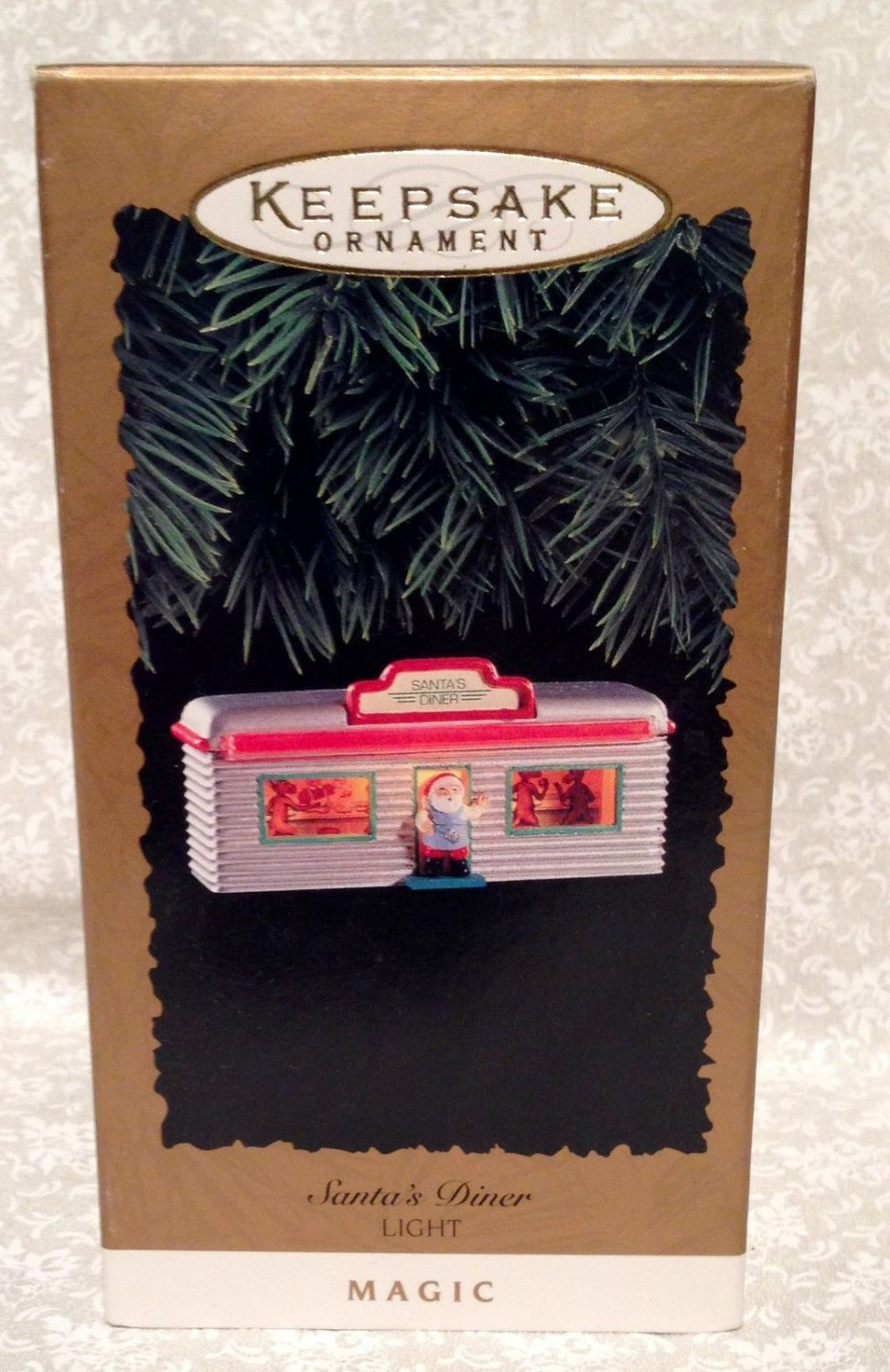 Hallmark Keepsake Christmas Ornament Santa's Dinner Light 1995 RARE!