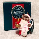 Hallmark Santa's Club List Collector's Club Ornament 1992