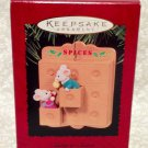 HALLMARK SISTER TO SISTER 1995 CHRISTMAS KEEPSAKE ORNAMENTS MICE SPICES
