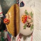 Merry Mushroom Napkin Holder 1978 Sears Roebuck And Co.Ceramic