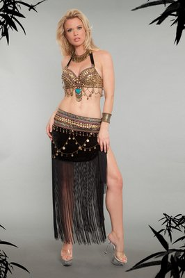 2 Piece Tribal Belly Dancer Costume Set