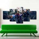 Hulk Iron Man The Avengers 5 Piece Movie Poster Canvas Wall Art Kids Room Decor