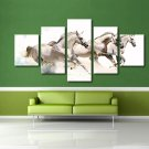 Running Horse Racing Poster Animal Painting Giclee Print 5 Piece Wall Art Canvas