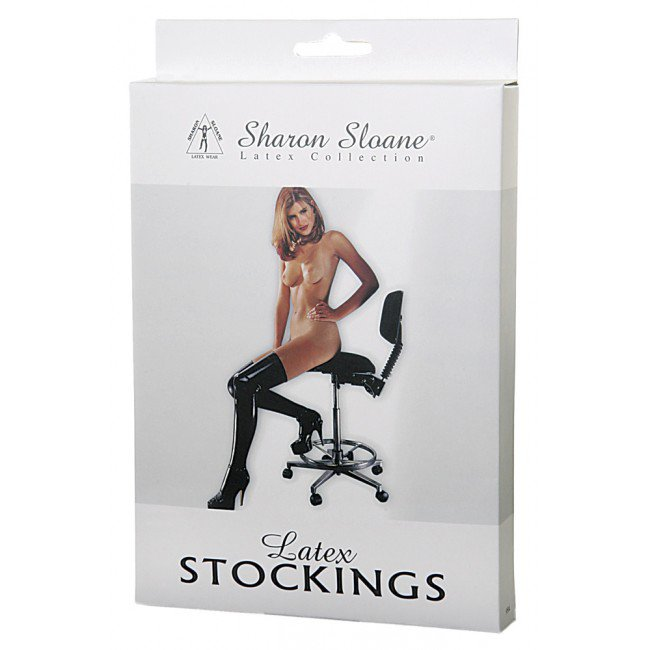 Sharon Sloane - Latex Stockings Black ~ Small 9504S-BX