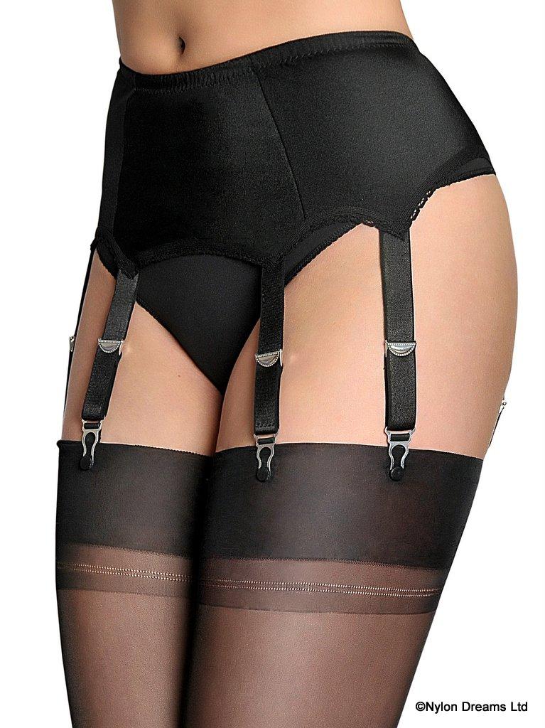 6 Strap Suspender Belt From Nylon Dreams NDL 2
