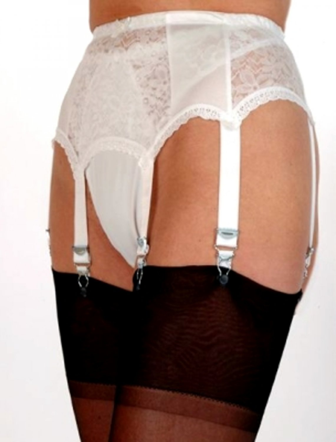 6 strap suspender belt lace front and sides From Nylon Dreams NDL 1