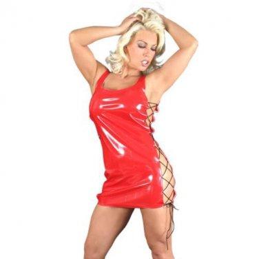 Club Cat PVC tie side dress S1109