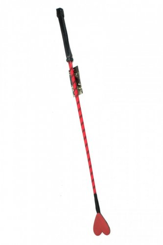 Oscuro APH105-BR Heart Riding Crop Black / Red