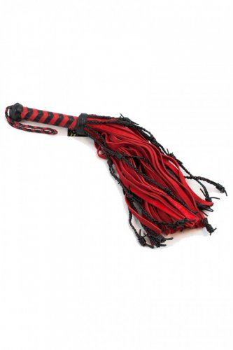 Oscuro APXA322 Barbed Wire & Suede Mini Flogger