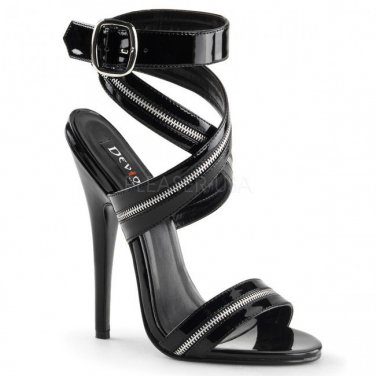 Pleaser Devious DOMINA-119 Zip Strap Sandals