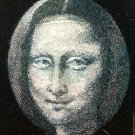 BENANDLU - Brooch pendant La Gioconda. Hand silk embroidery
