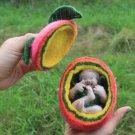"BENANDLU - Doll made of wool ""Angel in apple"""