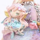 FREE SHIPPING OOAK Secret Enchanted Garden Fairy pendant figure cake topper miniature