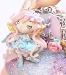 FREE SHIPPING OOAK Secret Enchanted Garden Fairy pendant figure cake topper miniature
