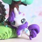 FREE SHIPPING My Little Pony Rarity chibi kawaii miniature Garden figure strap pendant Keychain