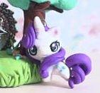 FREE SHIPPING My Little Pony Rarity chibi kawaii miniature Garden figure strap pendant Keychain