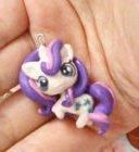 FREE SHIPPING My Little Pony Rarity chibi kawaii cute miniature Charm  strap  Keychain
