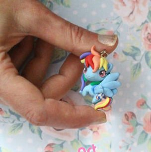 FREE SHIPPING My Little Pony Rainbow Dash chibi kawaii cute miniature Charm  strap  Keychain