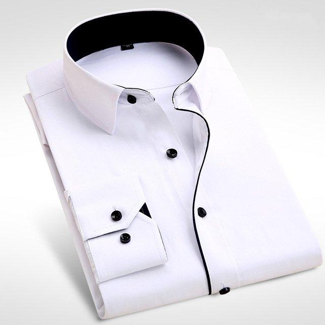 2017 Brand New Men Shirt Male Dress Shirts Men's Fashion Casual Long Sleeve