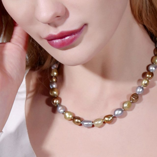 Daimi Genuine Baroque Pearl Necklace, Trendy Necklace For Woman, New Bijout