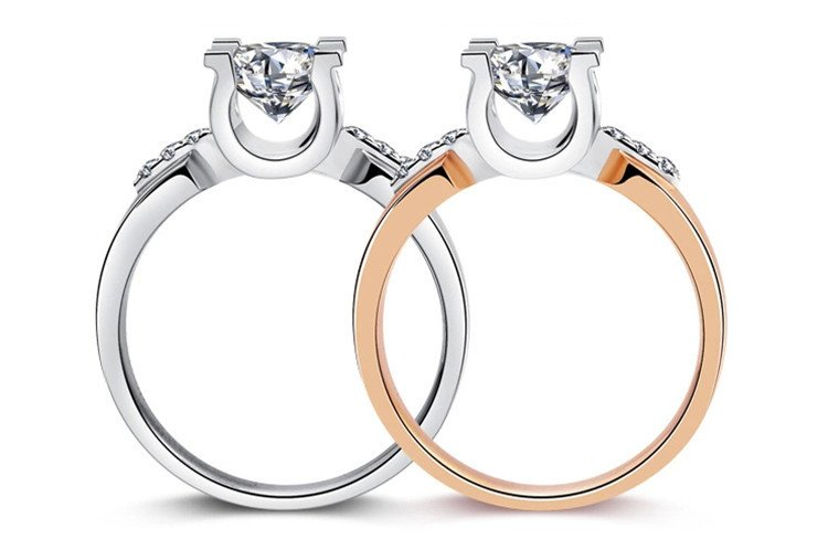MDEAN Rose gold Color Wedding Rings
