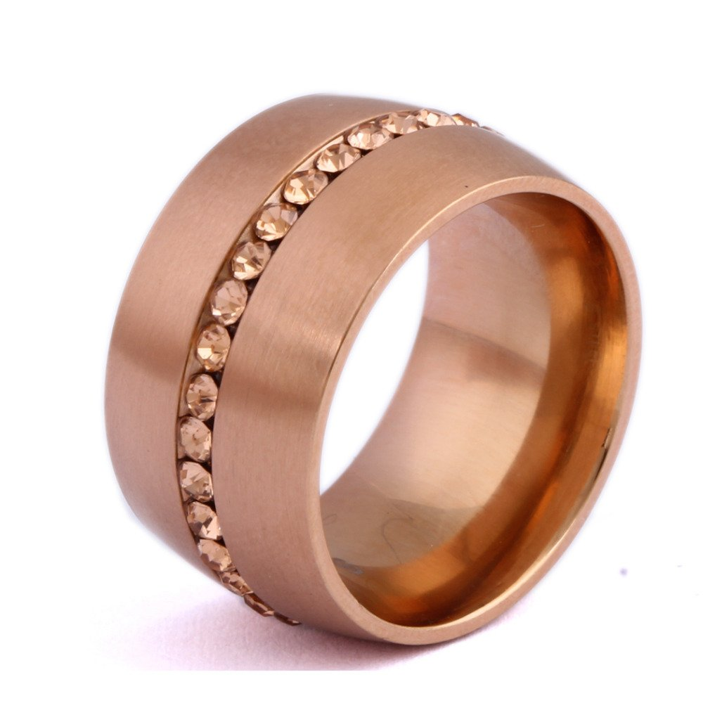 Classic Rose Gold-Color Crystal Wedding Ring