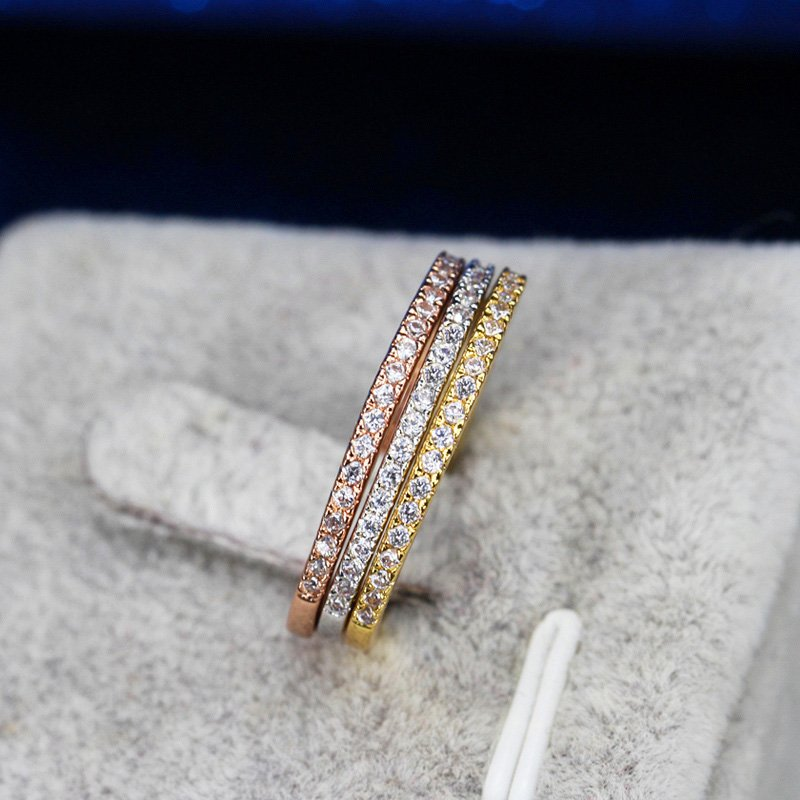 Colors Women CZ Stones Engagement Wedding Rings