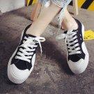 Fooraabo Black White Canvas Shoes Men Summer 2017 Korean