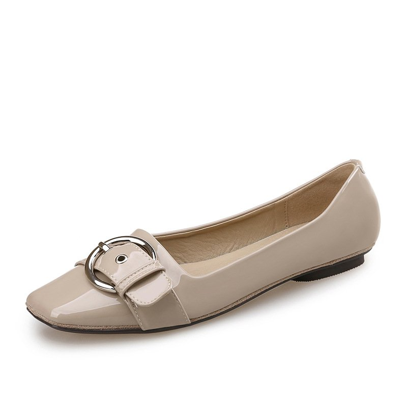 Han edition 2017 square buckle flat shoes women's shoes new