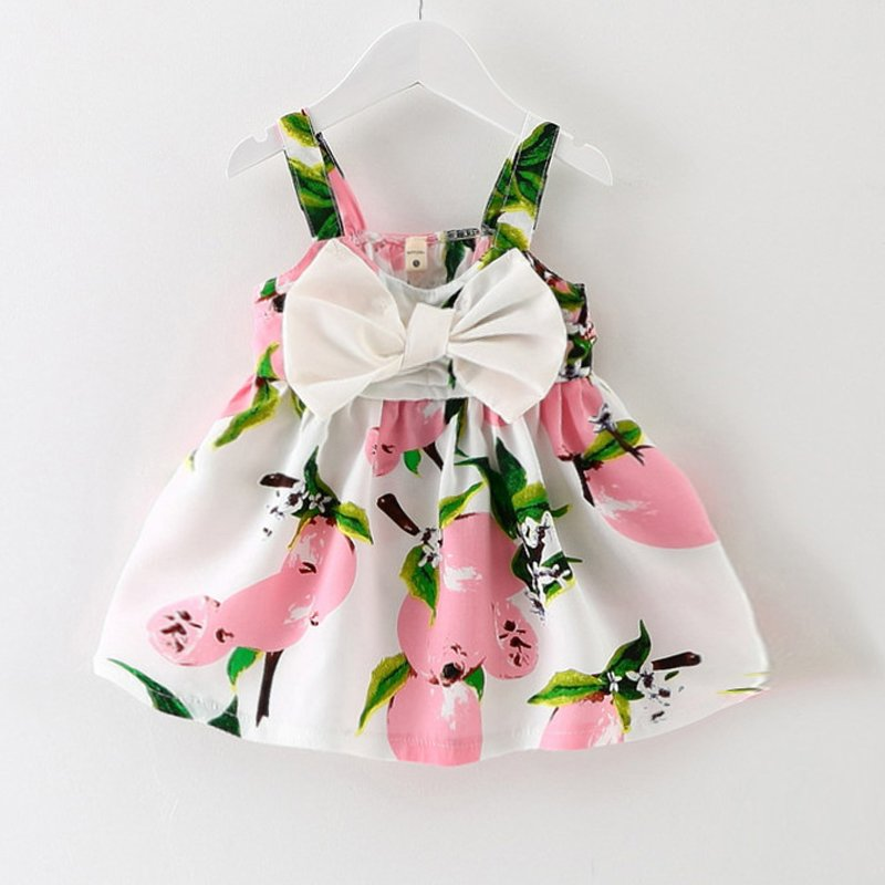 2016 New Baby Dress Infant girl dresses Lemon Print Baby Girls