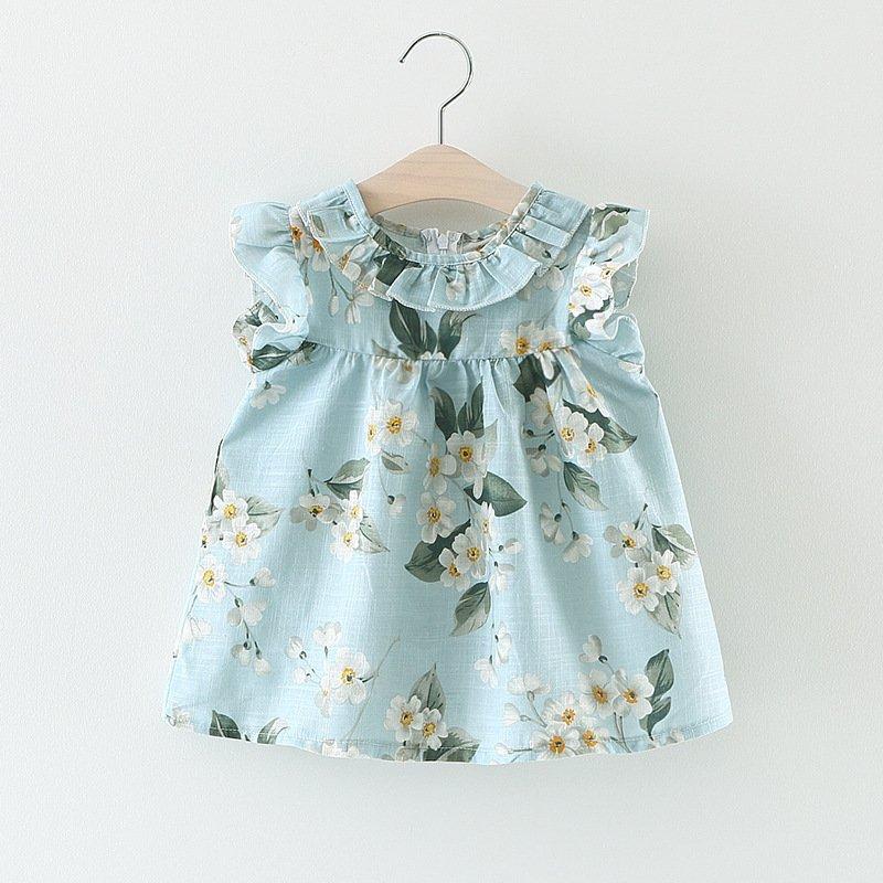 2017 Summer Baby Dress Cotton Floral Infant Girl