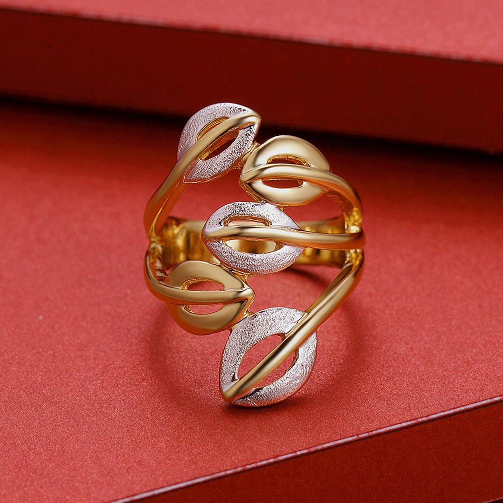 Viennois Gold/Silver Color Cocktail Party Wide Rings for Woman