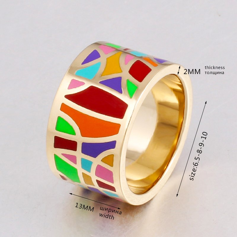 2017 Fashion Jewelry Vintage Big Stainless Steel Rings for Women