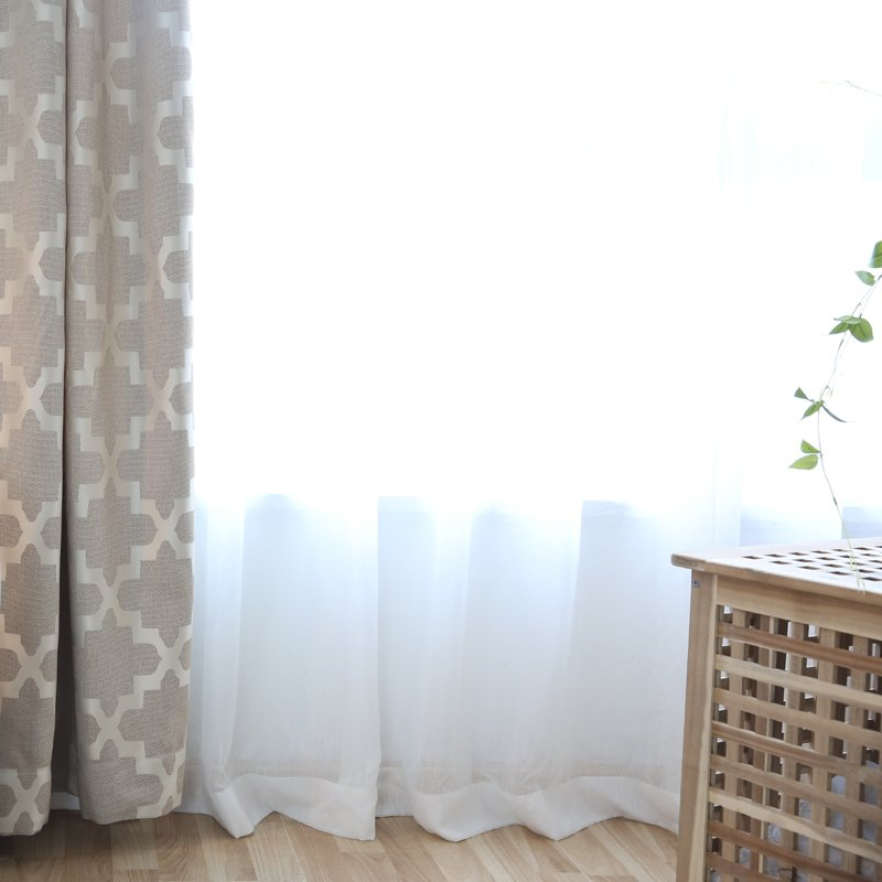 Cheap Curtains Solid White Tulle Modern Curtains for Living Room