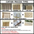 Modern organza transparent tulle curtains