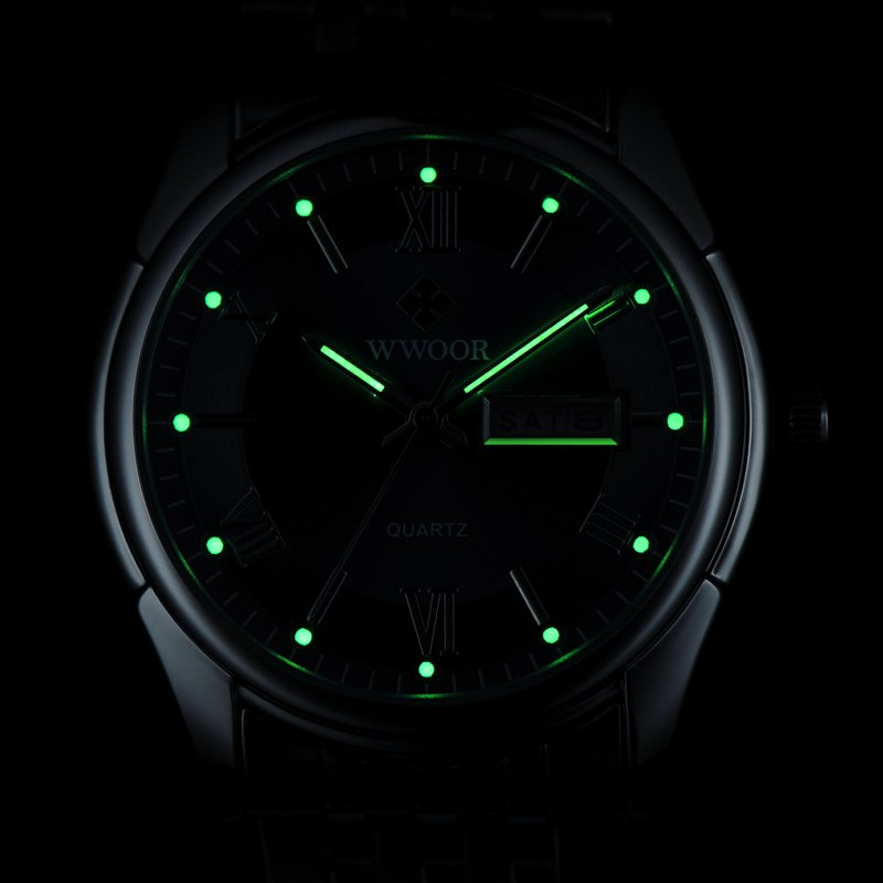 Men Watches Top Brand Luxury Day Date Luminous Hours Clock Male