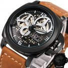 New Men Luxury Casual Watches Skeleton Automatic