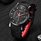 Luxury Brand Dragon Sculpture Date Men's Quartz Watch