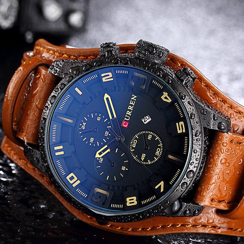 Men Watches Man Clock 2017 Top Brand Luxury Army Military Steampunk