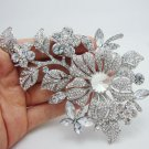 AZORA Two Budding Flowers With Stellux Austrian Crystal Pin Brooch TP0030-in