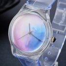 Transparent Clock Silicone Watches Women Sport Casual Quartz Wristwatches N