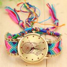 Vansvar Vintage Women Native Handmade Quartz Watch Knitted Dreamcatcher