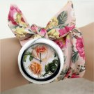 shsby design  Ladies flower cloth wristwatch fashion women dress watch high